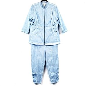 Zenergy by Chico's | Chambray Lace Up Track Suit